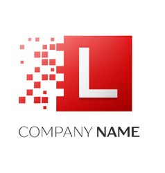 letter l logo symbol in the colorful square with vector image