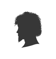 Man male head silhouette avatar icon vector image vector image