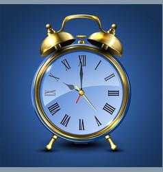 metal retro style alarm clock vector image vector image