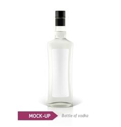 Mockup vodka bottle vector image