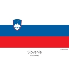 National flag of slovenia with correct proportions vector