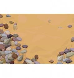 Pebbles on sand vector