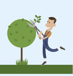 People tree pruner vector