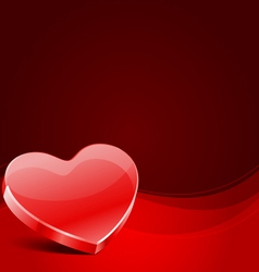 red glass heart vector image vector image