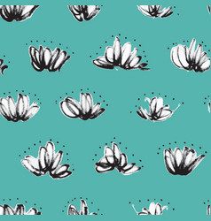 Seamless pattern with random marker scribbles vector