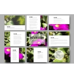 Set of 9 templates for presentation slides Yellow vector image vector image
