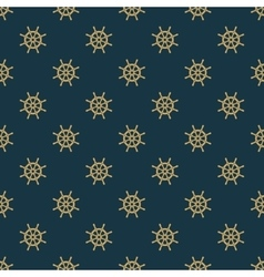 Ship helm seamless pattern vector