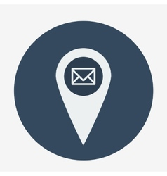 Single geo tag mail icon vector