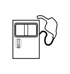 Thin line gas pump icon vector