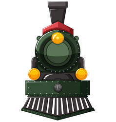 train in green color vector image