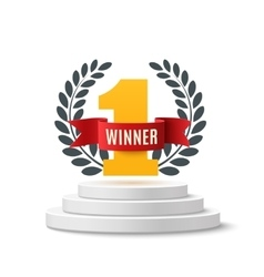 Winner background isolated on white vector image vector image