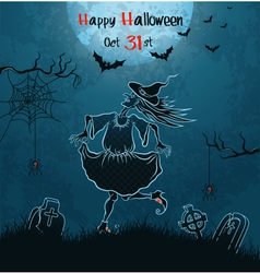 Witch dances on cemetery vector image vector image