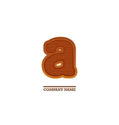 Wooden letter a as logo for business vector