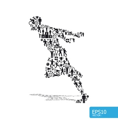 active running man shape concept vector image
