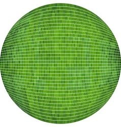 Green ball in mosaic vector