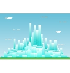 Urban landscape city real estate summer day vector