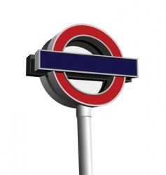 signpost of London underground vector image