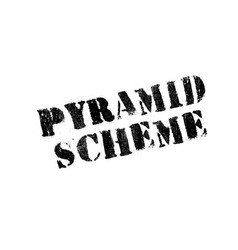 Pyramid scheme rubber stamp vector