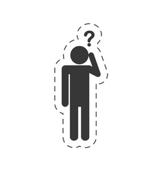 pictogram question mark imag vector image