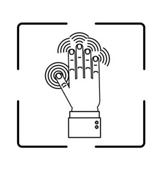 Hand biometric identification vector