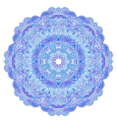 Lacy ornate blue napkin vector