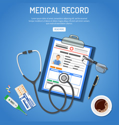 medical record concept vector image