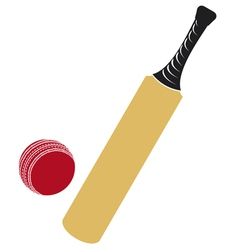 Cricket bat and cricket ball vector