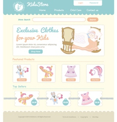 Baby on line store web template vector image