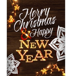 Christmas garland poster vector