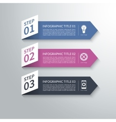 Modern 3d paper arrow infographic design elements vector
