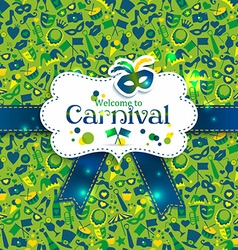 Bright carnival icons vector