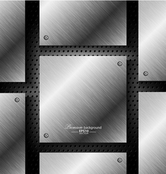 Abstract black metal technology background vector image vector image