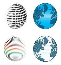 Abstract globe icons and symbols vector image vector image