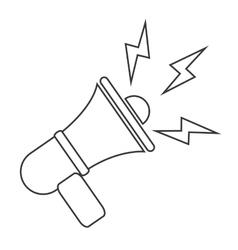 black line megaphone icon vector image