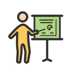 Businessman showing project sketch vector