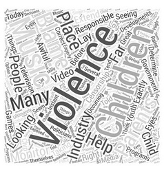 Children and violence word cloud concept vector