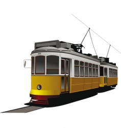 City tram vector