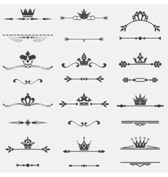Collection of twelve vintage frames vector image vector image