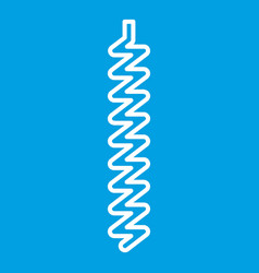 Corkscrew icon outline style vector