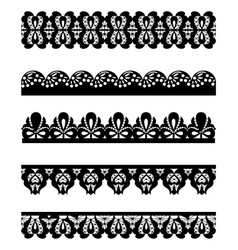 cute collection of lace vector image