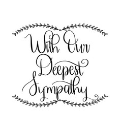 Deepest sympathy vector