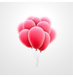 flying realistic pink glossy balloons vector image