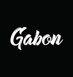Gabon text design calligraphy typography vector