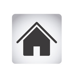 gray emblem house icon vector image vector image