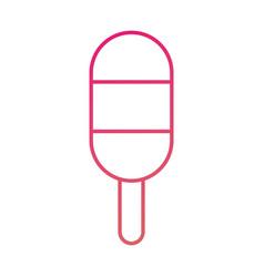 ice cream lollipop dessert on wooden stick vector image