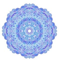 Lacy ornate blue napkin vector image