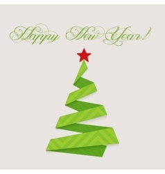 Modern design christmas tree happy new year vector