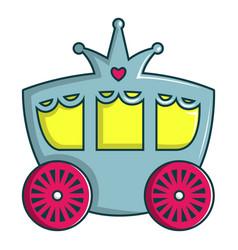 princess carriage icon cartoon style vector image