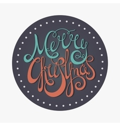 Retro calligraphic inscription merry christmas vector