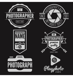 Set of logo and design elements for studio or vector image vector image